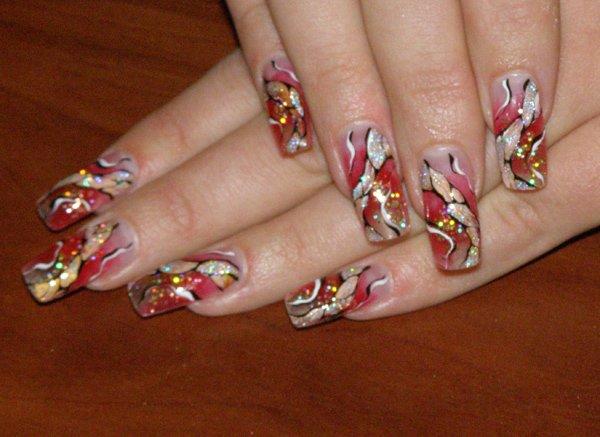 Ногти роспись ногтей ногти акрил
