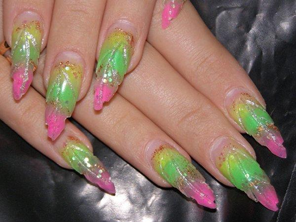 Дизайн ногтей с ракушкой