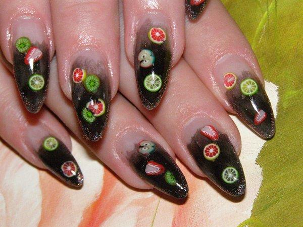 Пирсинг ногтей ногти акрил или гель