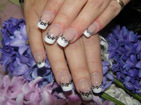 дизайн нарощенных ногтей аквариум: