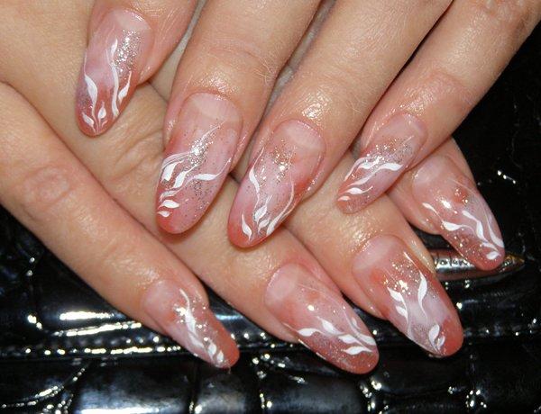 Длинные острые ногти дизайн фото