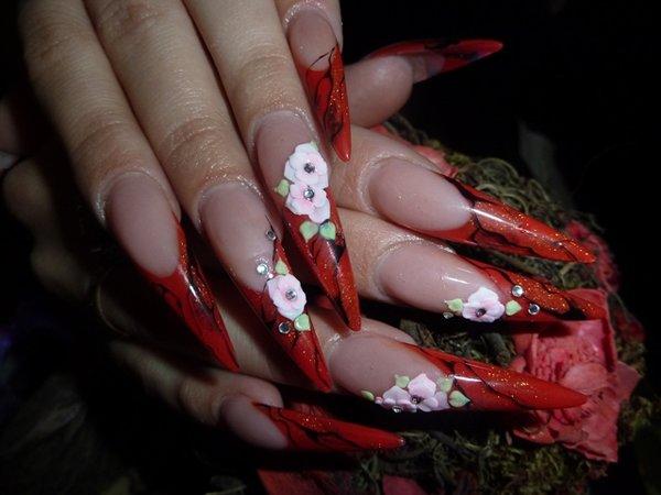 Ногти тверь дизайн ногтей френч фото