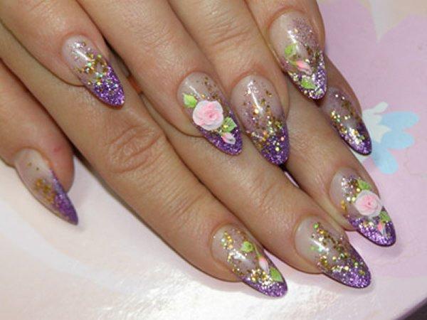 Ногти дизайн акриловые ногти в