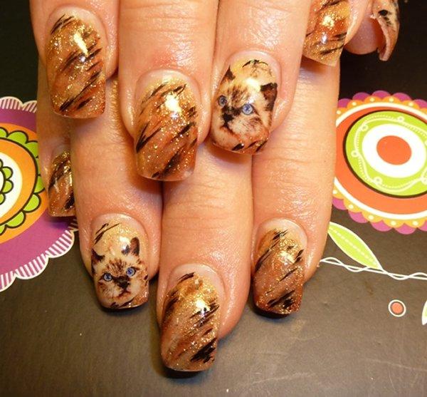 Маленькие красивые нарощенные ногти