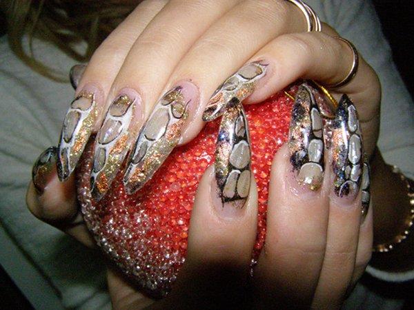 Ногтей зеленые ногти нарасти ногти