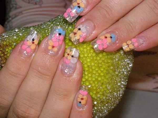 легкие дизайны ногтей: