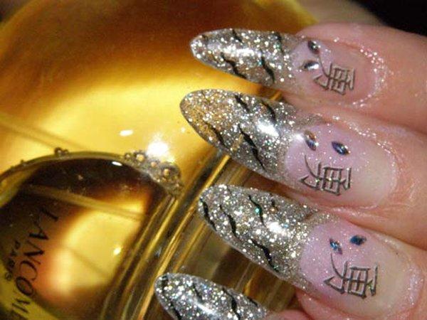 Красивые нарощенные ногти и рисунки на них