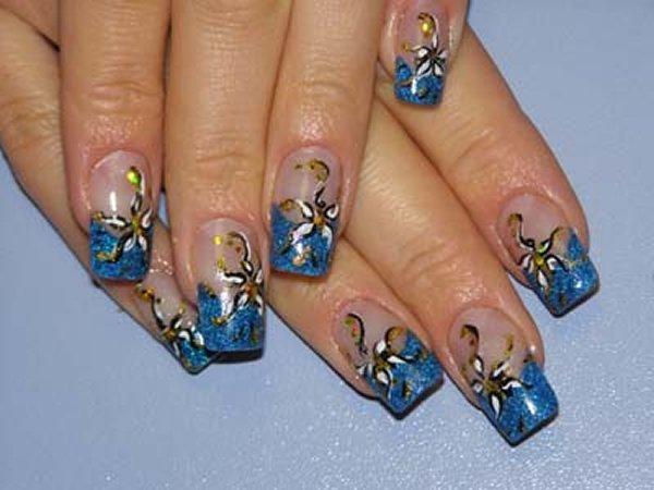 Свадебные рисунки на ногтях гель лаком фото