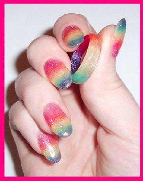Дизайн с блестками на ногтях видео