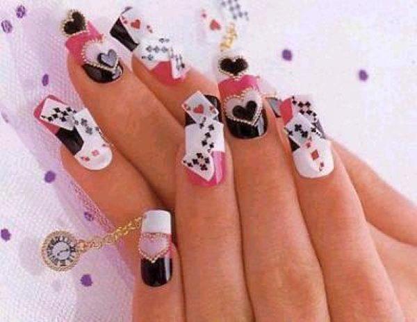 дизайн нарощенных ногтей в картинках: