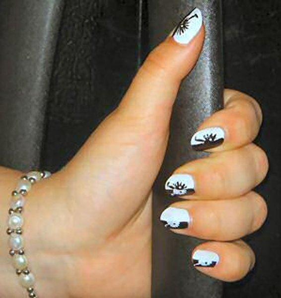 Маникюр круглые ногти фотографии