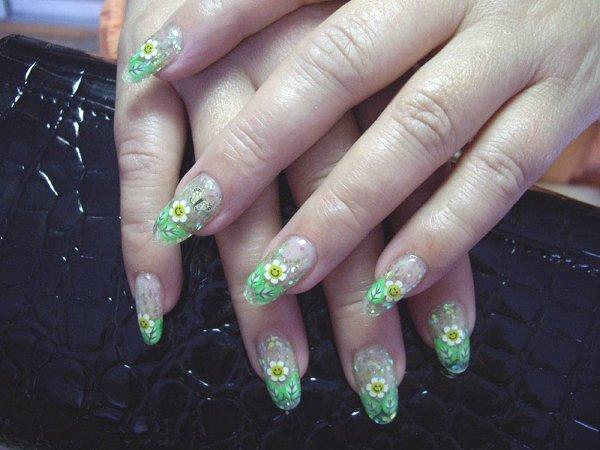 Нарощенные ногти френч фото