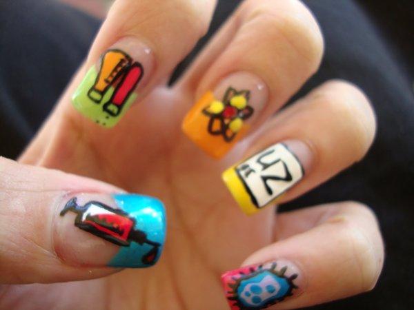 схемы для ногтей,