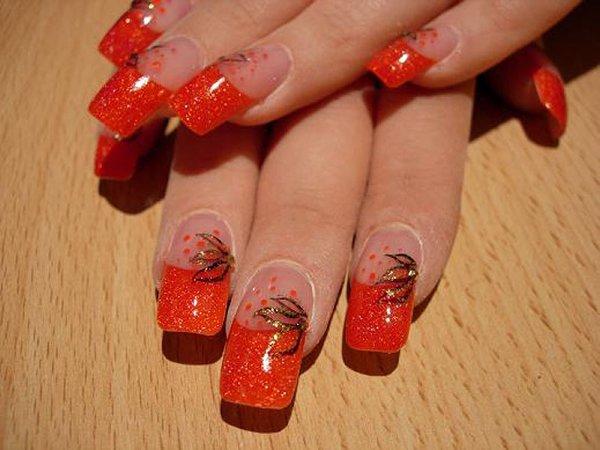 Роспись ногтей наращивание ногтей